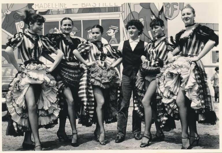 Véronique RIZA - 1980 - A la Volksfest de Berlin pour danser le French Cancan