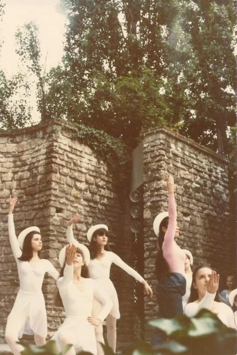 Véronique RIZA - 1981 - Spectacle de l'Ecole de Danse de Christine Dumas au Parc de Bécon