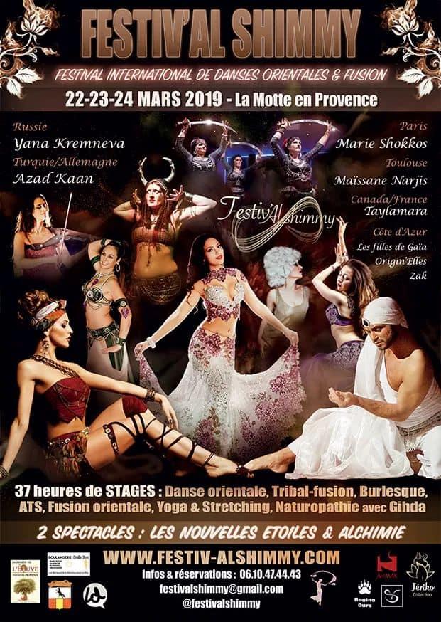 Affiche Festival International de Danses Orientales - La Motte en Provence