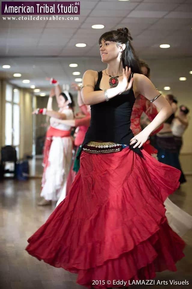 Isabelle en atelier de danse