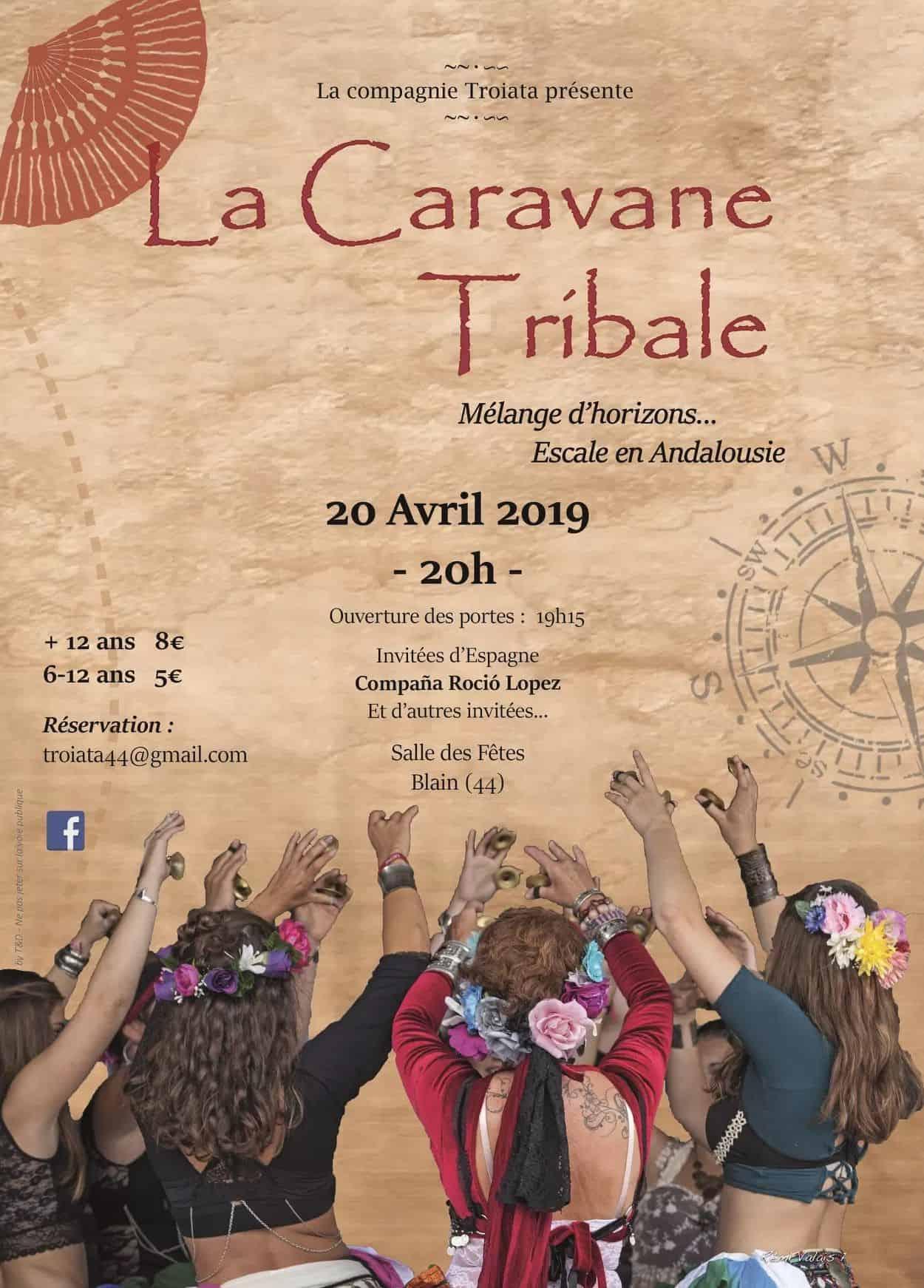 Affiche Caravane Tribale 2019 par l'association Troiata