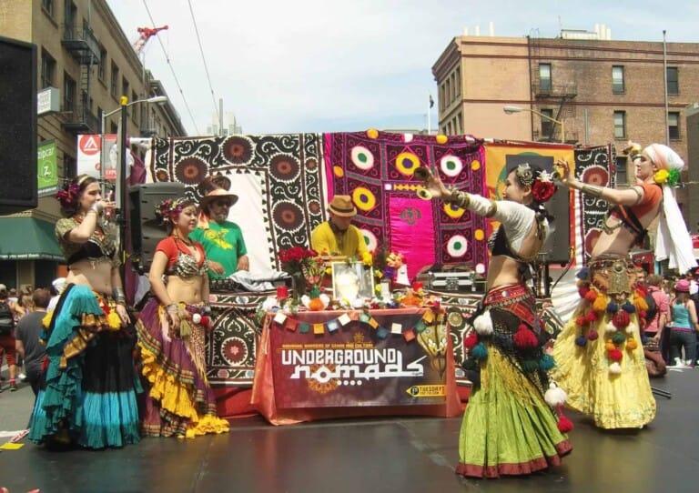 Danseuses sur scène à San Francisco