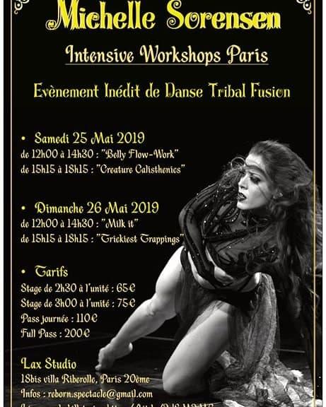"""""""Reborn"""" : stages de danse tribal fusion avec Michelle Sorensen"""