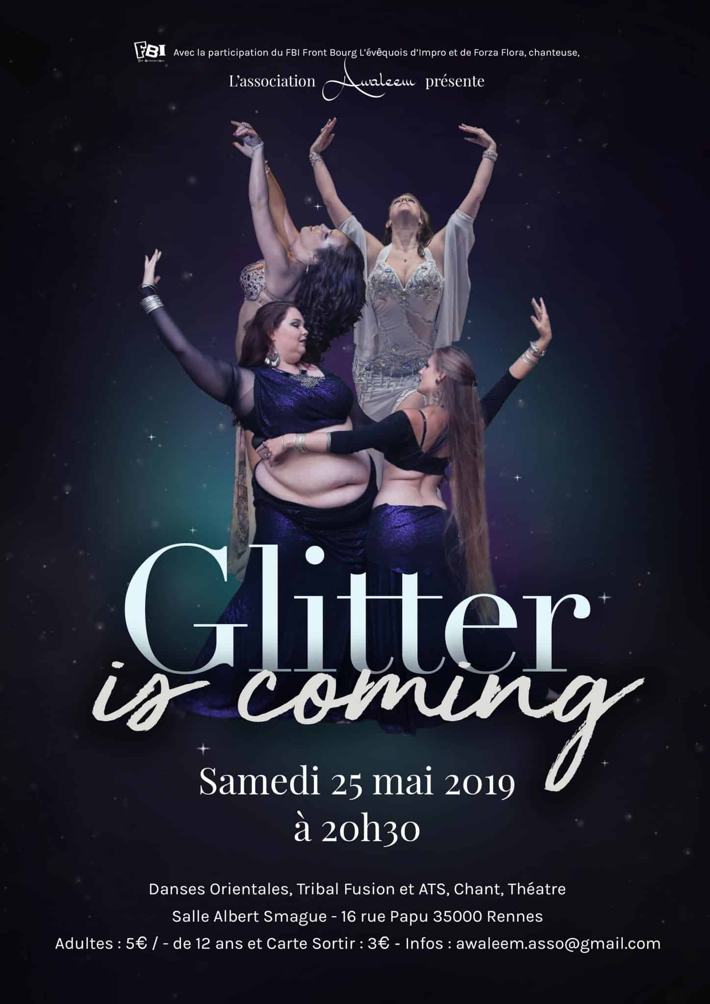 Glitter is coming, un spectacle de danses orientales à Rennes – asso Awaleem