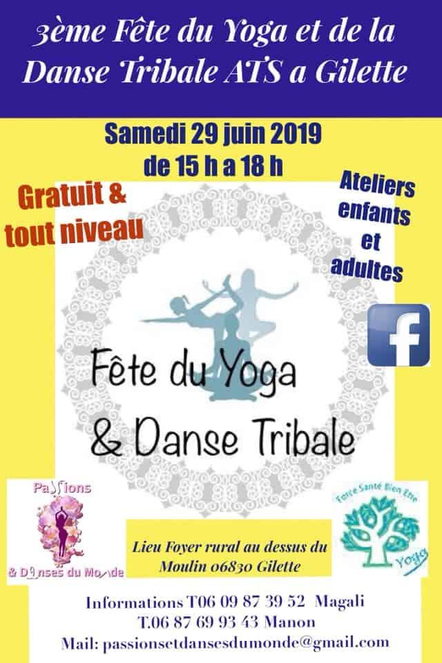 3ème Fête du Yoga et Danse Tribale à Gilette – samedi 29 juin 2019