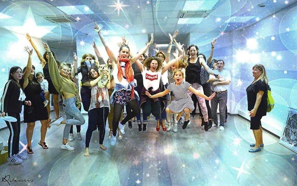 Photo de joie d'un atelier de danse