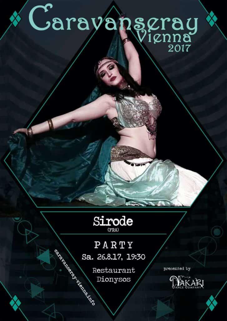 Affiche noire et verte qui présente un spectacle de Sirode à Vienne en 2017