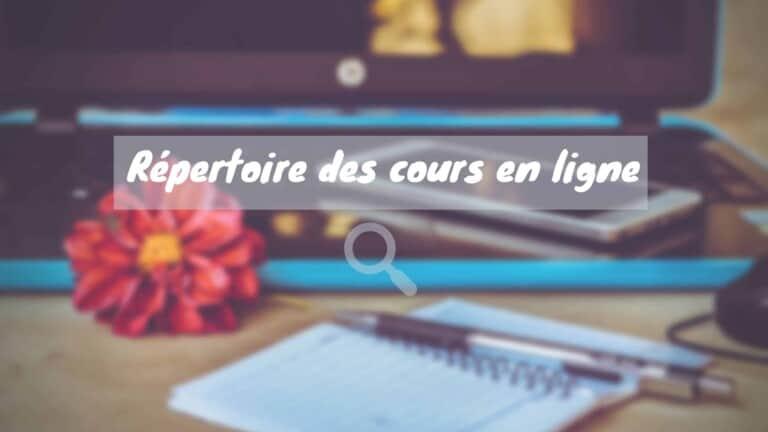 Répertoire Des Cours En Ligne