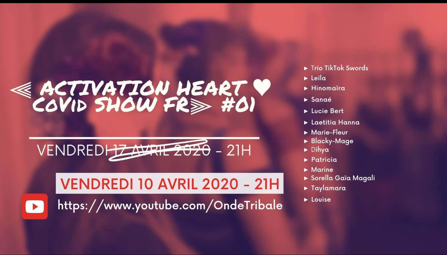 Visuel spectacle en ligne Activation Heart Covid Show Fr 01
