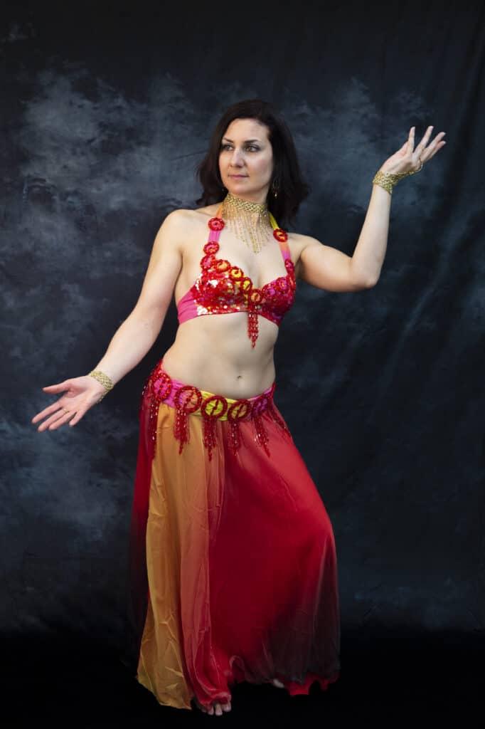 Shooting en studio danseuse orientale Kalyndra