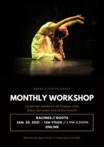 Atelier de danse Fusion avec Sanaé le 30.01 à 10h
